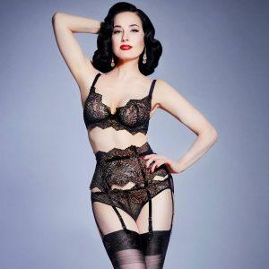 porte jarretelles vintage lurex lace lingerie dentelle glamuse