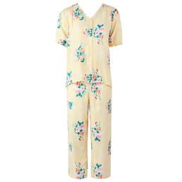 LAURENCE TAVERNIER pyjama 7/8 manches courtes en satin de viscose Onirique