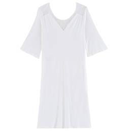 LAURENCE TAVERNIER chemise de nuit manches courtes en interlock micromodal Songe