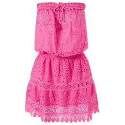 MELISSA ODABASH robe de plage en coton Iris Pink Panther